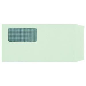その他 (まとめ) TANOSEE 窓付封筒 裏地紋付 ワンタッチテープ付 長3 80g/m2 グリーン 1パック(100枚) 【×10セット】 ds-2226977
