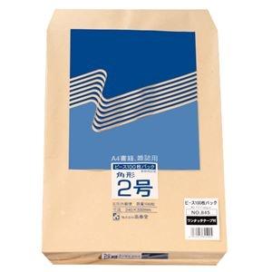 その他 (まとめ) ピース R40再生紙クラフト封筒 テープのり付 角2 85g/m2 845 1パック(100枚) 【×10セット】 ds-2226983