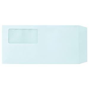 その他 (まとめ) TANOSEE 窓付封筒 ワンタッチテープ付 長3 80g/m2 ブルー 1パック(100枚) 【×10セット】 ds-2226991