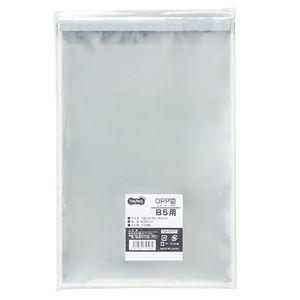 その他 (まとめ) TANOSEE OPP袋 フタ・テープ付B5用 195×270+40mm 1セット(500枚:100枚×5パック) 【×10セット】 ds-2227019