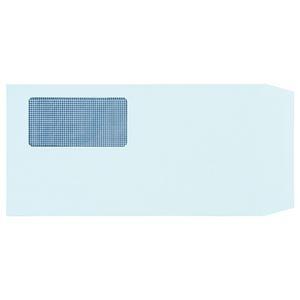 その他 (まとめ) TANOSEE 窓付封筒 裏地紋付 長3 80g/m2 ブルー 1パック(100枚) 【×10セット】 ds-2227067