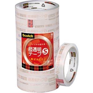 その他 (まとめ) 3M スコッチ 超透明テープS18mm×35m BK-18N 1パック(10巻) 【×10セット】 ds-2227334