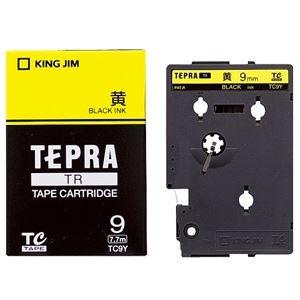 その他 (まとめ) キングジム テプラ TR テープカートリッジ パステル 9mm 黄/黒文字 TC9Y 1個 【×10セット】 ds-2227625