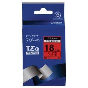 その他 (まとめ) ブラザー BROTHER ピータッチ TZeテープ ラミネートテープ 18mm 赤/黒文字 TZE-441 1個 【×10セット】 ds-2228255
