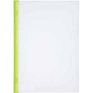 その他 (まとめ) リヒトラブ リクエスト スライドバーファイル 厚とじタイプ A4タテ 50枚収容 黄緑 G1730-6 1パック(10冊) 【×10セット】 ds-2228585