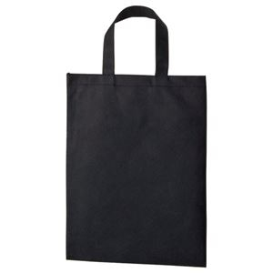 その他 (まとめ) TANOSEE 不織布バッグ A4 マチ無 ヨコ270×タテ350mm ブラック 1パック(10枚) 【×10セット】 ds-2228839