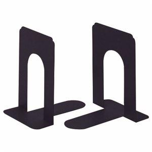 その他 (まとめ) ライオン事務器 ブックエンド T型 中ブラック NO.6 1組(2枚) 【×10セット】 ds-2228845
