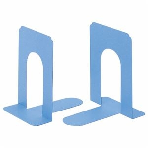 その他 (まとめ) ライオン事務器 ブックエンド T型 小ライトブルー NO.5 1組(2枚) 【×10セット】 ds-2228913