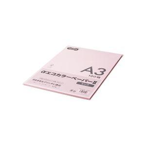 その他 (まとめ) TANOSEE αエコカラーペーパーII A3 ピンク 少枚数パック 1冊(100枚) 【×10セット】 ds-2228935