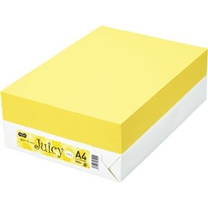 その他 TANOSEE カラーペーパー Juicy パイン A4 500枚 【×10セット】 ds-2229533