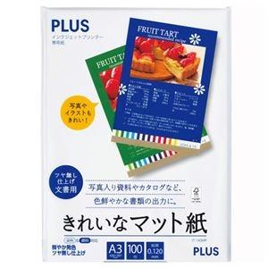 その他 インクジェットプリンタ専用紙 きれいなマット紙 A3 100枚入 【×10セット】 ds-2229534