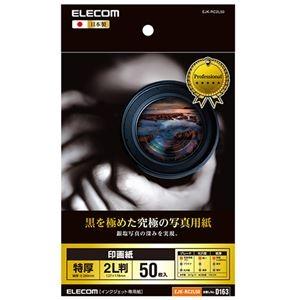 その他 (まとめ) エレコム 印画紙 黒を極めた写真用紙プロ2L EJK-RC2L50 1冊(50枚) 【×10セット】 ds-2229591