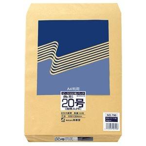 その他 (まとめ) ピース R40再生紙クラフト封筒 角20 85g/m2 790 1パック(100枚) 【×10セット】 ds-2229631