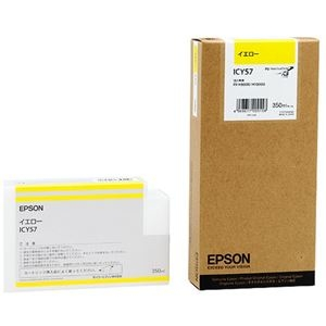 その他 (まとめ) エプソン EPSON PX-P/K3インクカートリッジ イエロー 350ml ICY57 1個 【×10セット】 ds-2229919