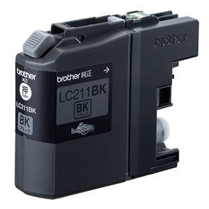 その他 (まとめ) ブラザー BROTHER インクカートリッジ 黒 LC211BK 1個 【×10セット】 ds-2230355