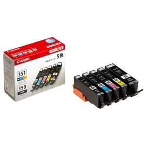 その他 (まとめ) キヤノン Canon インクタンク BCI-351+350/5MP 5色マルチパック 標準 6552B003 1箱(5個:各色1個) 【×10セット】 ds-2230399