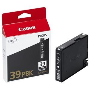 その他 (まとめ) キヤノン Canon インクタンク PGI-39PBK フォトブラック 4857B001 1個 【×10セット】 ds-2230417