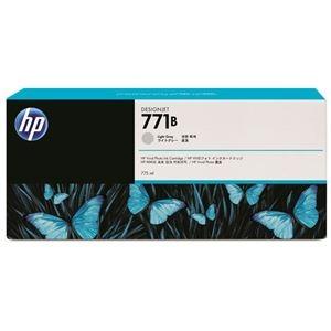 その他 (まとめ) HP771B インクカートリッジ ライトグレー 775ml 顔料系 B6Y06A 1個 【×10セット】 ds-2230580