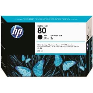 その他 (まとめ) HP80 インクカートリッジ ブラック 350ml 染料系 C4871A 1個 【×10セット】 ds-2230619