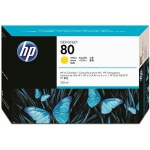 その他 (まとめ) HP80 インクカートリッジ イエロー 350ml 染料系 C4848A 1個 【×10セット】 ds-2230620