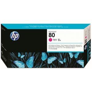 その他 (まとめ) HP80 プリントヘッド/クリーナー マゼンタ C4822A 1個 【×10セット】 ds-2230621