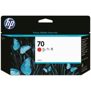 その他 (まとめ) HP70 インクカートリッジ レッド 130ml 顔料系 C9456A 1個 【×10セット】 ds-2230635