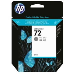 その他 (まとめ) HP72 インクカートリッジ グレー 69ml 染料系 C9401A 1個 【×10セット】 ds-2230671