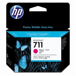 その他 (まとめ) HP711 インクカートリッジ マゼンタ 29ml/個 染料系 CZ135A 1箱(3個) 【×10セット】 ds-2230675