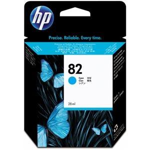 その他 (まとめ) HP82 インクカートリッジ シアン 28ml 染料系 CH566A 1個 【×10セット】 ds-2230725