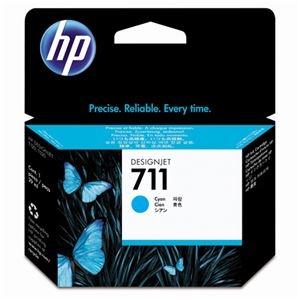 その他 (まとめ) HP711 インクカートリッジ シアン 29ml 染料系 CZ130A 1個 【×10セット】 ds-2230728