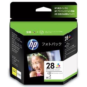 その他 (まとめ) HP28/L判 フォトパック 3色カラー+アドバンスフォト用紙L判25枚 CR714AJ 1セット 【×10セット】 ds-2230739