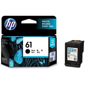 その他 (まとめ) HP HP61 インクカートリッジ 黒CH561WA 1個 【×10セット】 ds-2230762