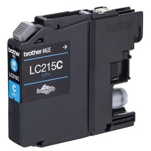 その他 (まとめ) ブラザー インクカートリッジ シアン大容量 LC215C 1個 【×10セット】 ds-2230792