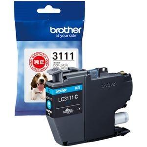 その他 (まとめ) ブラザー インクカートリッジ シアンLC3111C 1個 【×10セット】 ds-2230806