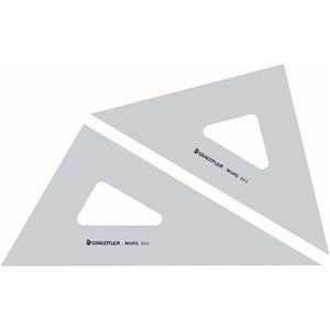 その他 (まとめ) ステッドラー マルス 三角定規 30cm 45°・60°ペア 964 30 1組 【×10セット】 ds-2230893