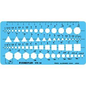 その他 (まとめ) ステッドラー テンプレート 組合せ定規 エッジ付 976 04 1枚 【×10セット】 ds-2230901
