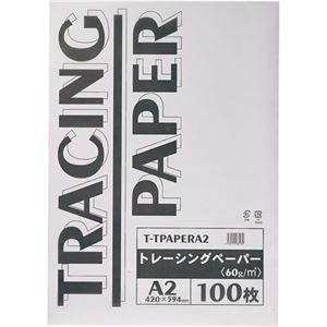 その他 (まとめ) TANOSEE トレーシングペーパー60g A2 1パック(100枚) 【×10セット】 ds-2230938