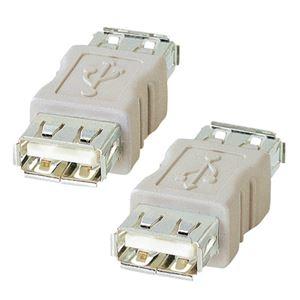 その他 (まとめ) サンワサプライ USBアダプタ(A)メス AD-USB2 1個 【×10セット】 ds-2231368