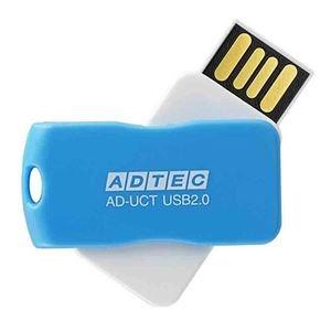 その他 (まとめ) アドテック USB2.0回転式フラッシュメモリ 16GB ブルー AD-UCTL16G-U2R 1個 【×10セット】 ds-2231446