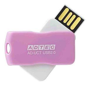 その他 (まとめ) アドテック USB2.0回転式フラッシュメモリ 16GB ピンク AD-UCTP16G-U2R 1個 【×10セット】 ds-2231447