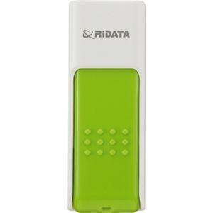 その他 (まとめ) RiDATA ラベル付USBメモリー8GB ホワイト/グリーン RDA-ID50U008GWT/GR 1個 【×10セット】 ds-2231481