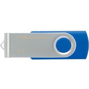 その他 (まとめ) プリンストン USBフラッシュメモリー回転式カバー 4GB ブルー PFU-T2KT/4GBL 1個 【×10セット】 ds-2231499