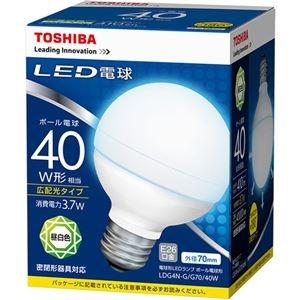 その他 (まとめ) 東芝ライテック LED電球 ボール電球形40W形相当 3.7W E26 昼白色 LDG4N-G/G70/40W 1個 【×10セット】 ds-2231551