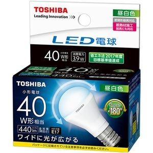 その他 (まとめ) 東芝ライテック LED電球ミニクリプトン形 40W形相当 3.9W E17 昼白色 LDA4N-G-E17/S/40W 1個 【×10セット】 ds-2231553