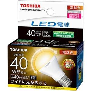 その他 (まとめ) 東芝ライテック LED電球ミニクリプトン形 4.2W 2700K E17 小形電球40W形相当 LDA4L-G-E17/S/40W 1個 【×10セット】 ds-2231554