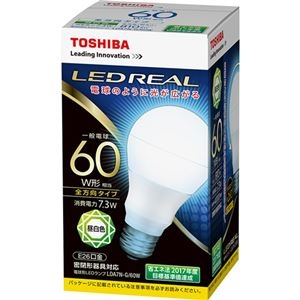 その他 (まとめ) 東芝ライテック LED電球 一般電球形60W形相当 7.3W E26 昼白色 LDA7N-G/60W 1個 【×10セット】 ds-2231563