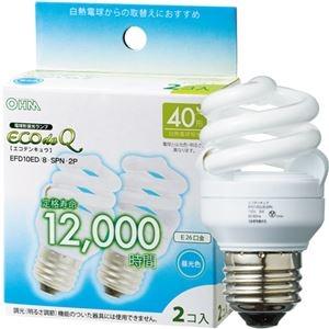 その他 (まとめ) オーム電機 電球形蛍光灯 エコ電球 D形40形 昼光色 EFD10ED/8-SPN-2P 1パック(2個) 【×10セット】 ds-2231568