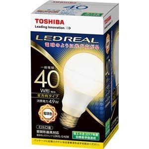 その他 (まとめ) 東芝ライテック LED電球 一般電球形40W形相当 4.9W E26 電球色 LDA5L-G/40W 1個 【×10セット】 ds-2231570