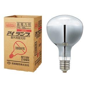 その他 (まとめ) 岩崎電気 屋外投光用アイランプ 散光形300W形 E39口金 RF110V270WH 1個 【×10セット】 ds-2231583