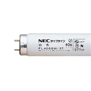 その他 (まとめ) NEC 蛍光ランプ ライフラインII 直管グロースタータ形 40W形 白色 FL40SSW/37/4K-L 1パック(4本) 【×10セット】 ds-2231606